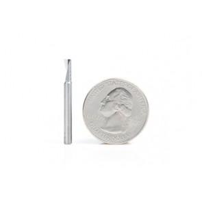 Amana Tool Frez pełnowęglikowy 0,8 mm, 3-ostrza, 2D 3D Carving, pozytyw