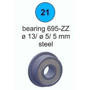 Łożysko 695-ZZ d5-13/4 (nr 21)